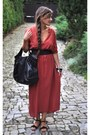 Brick-red-zara-dress-black-marc-opolo-bag-black-zara-sandals