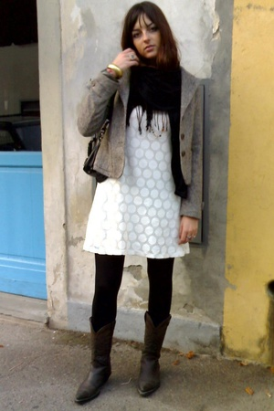 H&amp;M dress - vintage jacket - vintage shoes