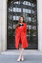 red velvet asos skirt