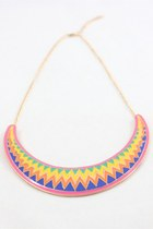 Colourful Rainbow Geometric Short Necklace