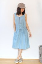 Sleeveless Casual Denim Dress With Pockets C03