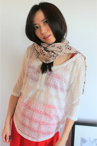 Light Pink Leopard Print CrossWoodStore Scarves