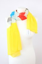 CLEARANCE Spring Bright Colour Rainbow Striped Chiffon Scarf SZ30