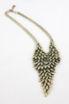 CLEARANCE-Statement Wheat Pendant Bronze Necklaces