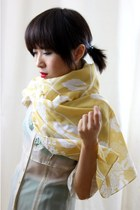 Amber Floral Print Fine Silk Cotton Long Scarf SD2