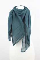 Cotton Linen Large Square Scarf, Grey, Purple or Teal