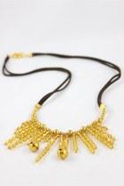 gold CrossWoodStore necklace
