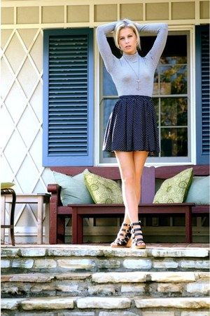 turtle neck brandy melville shirt - polka dots brandy melville skirt