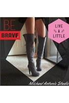 silver michael antonio studio boots