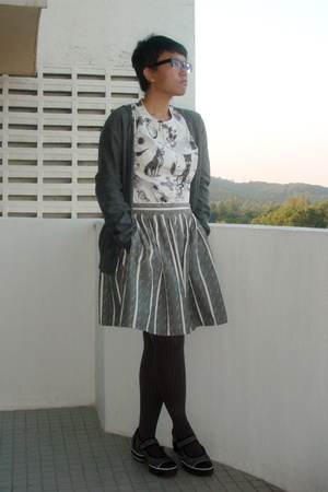 Libertine for Target shirt - Topshop skirt - sweater - Skechers shoes