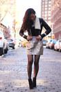 Fan-jacket-metallic-urban-outfitters-skirt