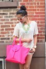 Snake-skin-pink-meli-melo-bag-joes-shorts-mirrored-white-rayban-sunglasses