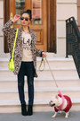 Booties-black-rag-bone-boots-leopard-spring-zara-coat
