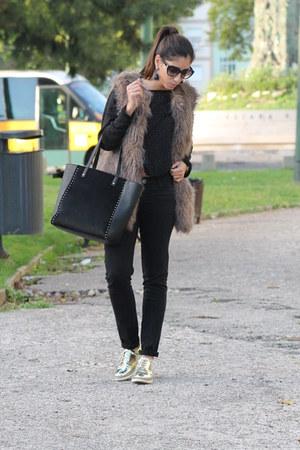 Pepe Jeans vest - Zara shoes - Stradivarius sweater - Lefties bag