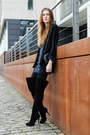 Black-buffalo-boots-forest-green-zara-dress