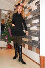 Black-boots-black-zara-dress-black-zara-sweater-camel-golden-zara-leggings