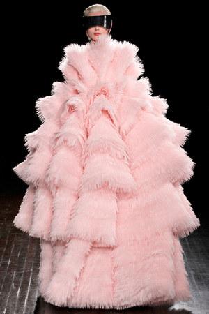 light pink Alexander McQueen coat