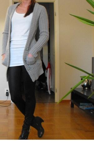 hm sweater - BikBok top - Gina tights - Scorett shoes