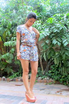 Steve Madden wedges - H&M belt - Forever 21 romper