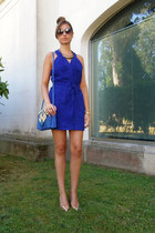 Zara dress - Zara bag - Marc by Marc Jacobs sunglasses - Massimo Dutti heels