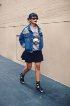 denim chictopia shop jacket - dark gray Marc by Marc Jacobs sunglasses