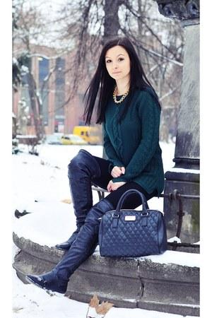 green Zara sweater