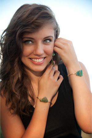 turquoise blue Unearth Jewelry earrings - black Target dress