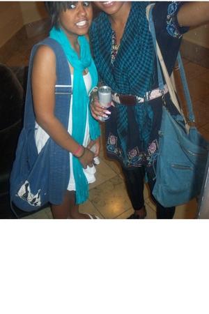 Target scarf - Target dress - Target purse - Walmart shoes - borrowed necklace