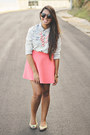 Salmon-skater-forever-21-skirt-light-blue-acid-wash-top