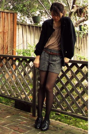 black American Apparel jacket - charcoal gray Forever 21 shorts - tawny Forever
