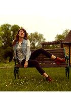 f21 vest - Zara sweater - track1 pants - Zara shoes