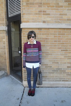 skinny J Brand jeans - multi- color Marc by Marc Jacobs sweater - white The Row