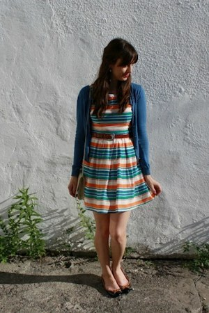 Fraiche dress - vintage purse - Aldo flats - Jacob cardigan - vintage belt