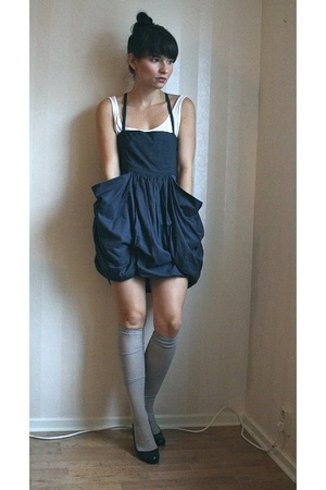 H&M top - Monki dress - Indiska socks - Zara shoes