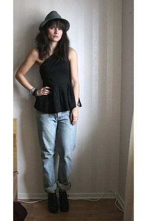 hlns hat - H&amp;M top - Filippa K jeans - Din Sko shoes