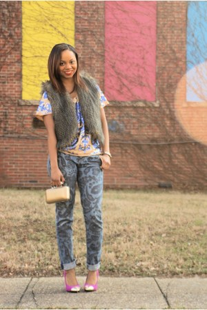 sequin floral tracy reese blouse - paisley Citizen of humanity jeans