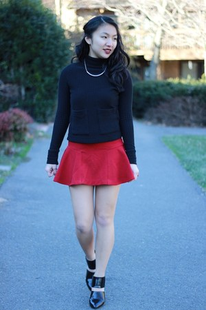 Sheinside skirt - Zara top - Forever 21 heels