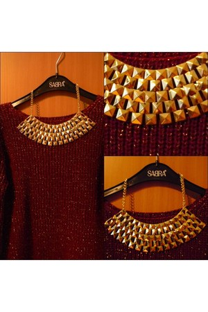 studded threadsence necklace