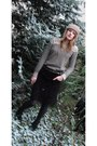 Camaieu-hat-camaieu-sweater-zara-skirt-camaieu-tights-hush-puppies-shoes