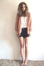 Peach-vintage-blazer-navy-nautical-new-look-shorts-white-slouchy-vintage-ves