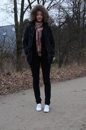 Bloom jacket - H&M scarf - Superga shoes