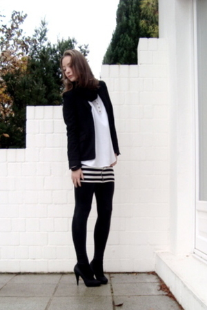 H&M blazer - H&M dress - H&M shoes