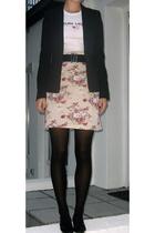 H&M blazer - Ralph Lauren t-shirt - skirt