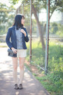 Navy-zara-blazer-blue-h-m-shirt-white-mango-shorts