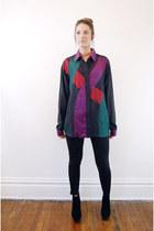 colorblock vintage shirt