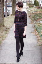 black Dana Buchman shoes - black vintage dress