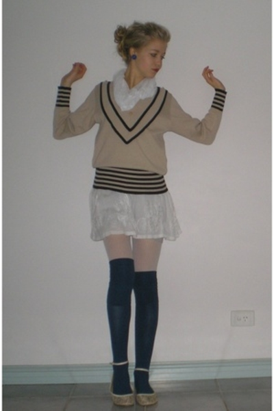 sweater - dress - Sportsgirl socks - Shoobiz shoes