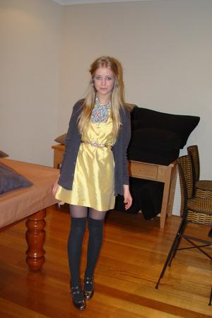 Hannah MacLeod dress - cotton on jacket - betts shoes - Sportsgirl socks