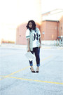 Navy-asos-jeans-silver-h-m-purse-white-forever21-t-shirt