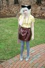 Gold-j-crew-blouse-brown-modcloth-skirt-silver-charlotte-russe-tights-gray